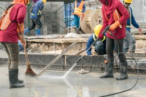 Limpeza pós obra na construção civil