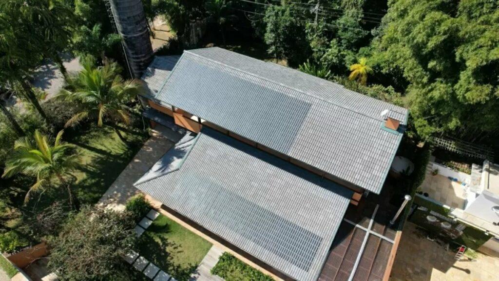Telhas fotovoltaicas são utilizadas para testes em São Paulo. Fonte: Divulgação