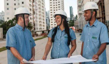 Construtora MRV está com processos seletivos abertos para ocupar 140 vagas de emprego disponíveis para o setor de Obras de Construção Civil